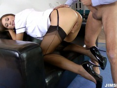 Brunette nurse gets fucked and jizzed movies at freekilomovies.com