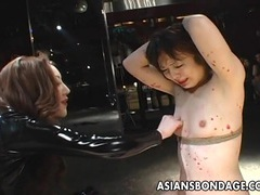 Asian bondage lezdom scene tubes at asian.sgirls.net