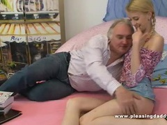 Young blond slut fucks old chubby tutor tubes