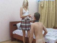 Schoolgirl rides slave boy and makes him lick feet movies at dailyadult.info