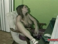 Big tits solo girl masturbates pussy at desk movies at kilopics.net