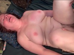 Fat old lady jiggles as he fucks her pussy movies at kilosex.com