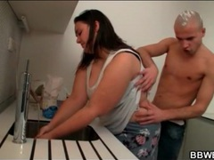 Bbw bakes as horny guy fondles her body videos