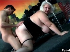Fat blonde with huge tits does doggystyle fuck movies at sgirls.net