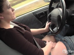 Sexy lou driving and rubbing her wet pussy movies at kilogirls.com