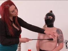 Latex hood is sexy on submissive young lady videos