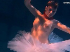 Ballerina in a tutu filmed underwater videos