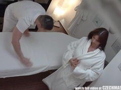 Busty milf gets fucked during massage clip
