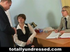 Shy secretary during dirty job interview tubes