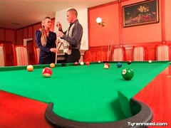 Couple plays pool and gets frisky for fun tubes