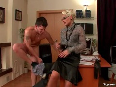He strips under orders from blonde mistress movies at freelingerie.us