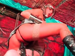 Mistress in sexy outfit sits on a face dildo movies at lingerie-mania.com