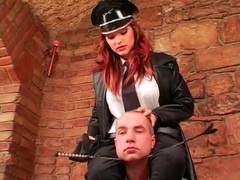 Prisoner and his stunning mistress boot play videos