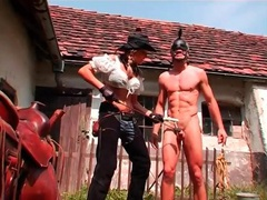 Rough abuse of guy during outdoor pony play session movies at kilotop.com