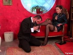 Mistress commands him to strip naked videos