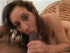 Black dick fills up wet milf pussy in cock ride videos