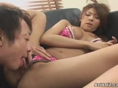 Japanese babe gets her hairy cunt ploughed uncensored tubes at japanese.sgirls.net