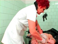 Rough cbt from mature nurse makes him hurt videos