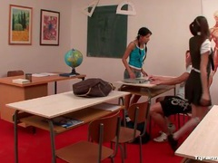 Schoolgirls bind fellow student and spank him movies at sgirls.net