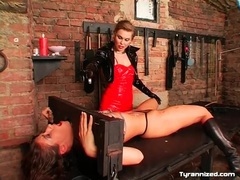 Girl licks the lovely latex mistress all over movies at freekilosex.com