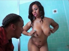 He washes her big black ass in the shower movies at find-best-mature.com