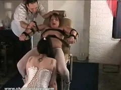Bound girl eaten out as titties are tortured movies at adipics.com