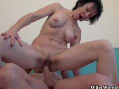 Wanton grandma is really enjoying his fuck stick movies at find-best-lesbians.com