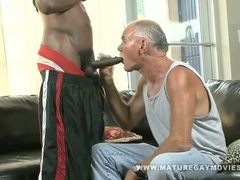 Old guy gets fucked by massive black cock movies at freekilosex.com