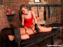 Girl bound to table and played with by mistress movies at find-best-panties.com