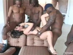 Cute young white girl gangbanged by black dicks videos