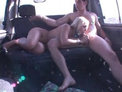 Sucked off in the car by a blonde shemale movies at kilotop.com