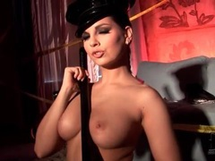 Police officer eve angel plays with night stick movies at sgirls.net