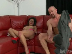 Big cock pushes deep into slutty cunt videos