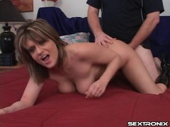 Big natural tits swinging in doggystyle scene movies at kilosex.com
