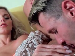 Short ruffled skirt on hot blonde he bangs hard videos