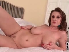 Glamorous big tits brunette is a sensual solo treat movies at lingerie-mania.com