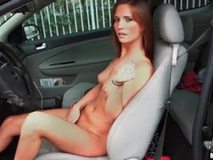 Driving the car and stripping her bikini movies at freekilosex.com