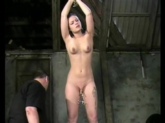 Bound girl in his dungeon takes pussy torture movies at find-best-hardcore.com