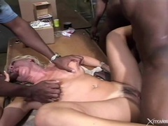 Cute blonde and black cocks get it on lustily movies at kilosex.com