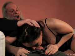 Deepthroating old man dick makes it cum hard movies at find-best-panties.com