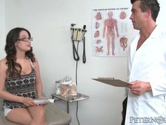 Horny doctor blown by naughty patient in office movies at find-best-hardcore.com