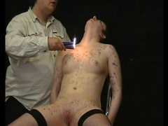 Lean body covered in dripping hot wax movies at sgirls.net
