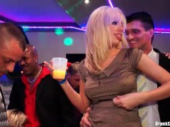 Cocksuckers in sexy satin blouses at hot party movies at freekilomovies.com