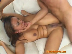 Deep throat for a latina and a facial cum movies at kilosex.com