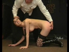 Flogging and binding sexy girl in his dungeon videos