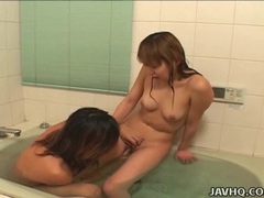 Japanese teen gets dirty in the bath uncensored movies at sgirls.net