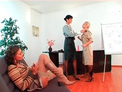 Three naughty girls in sexy clothes fool around videos