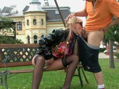 Girl gives good head to hard dick outdoors movies