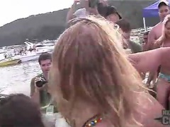 Girls on a boat shake asses in bikinis movies at kilopills.com