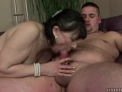 Fat guy blown by hot mature that rides him movies at find-best-mature.com